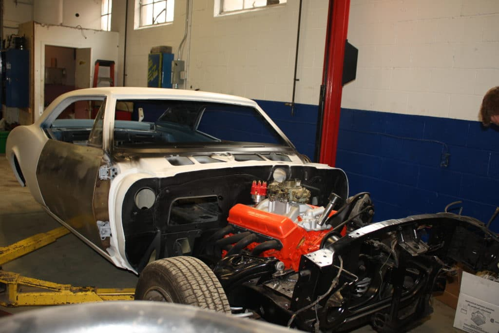 1967 Camaro Engine on Frame