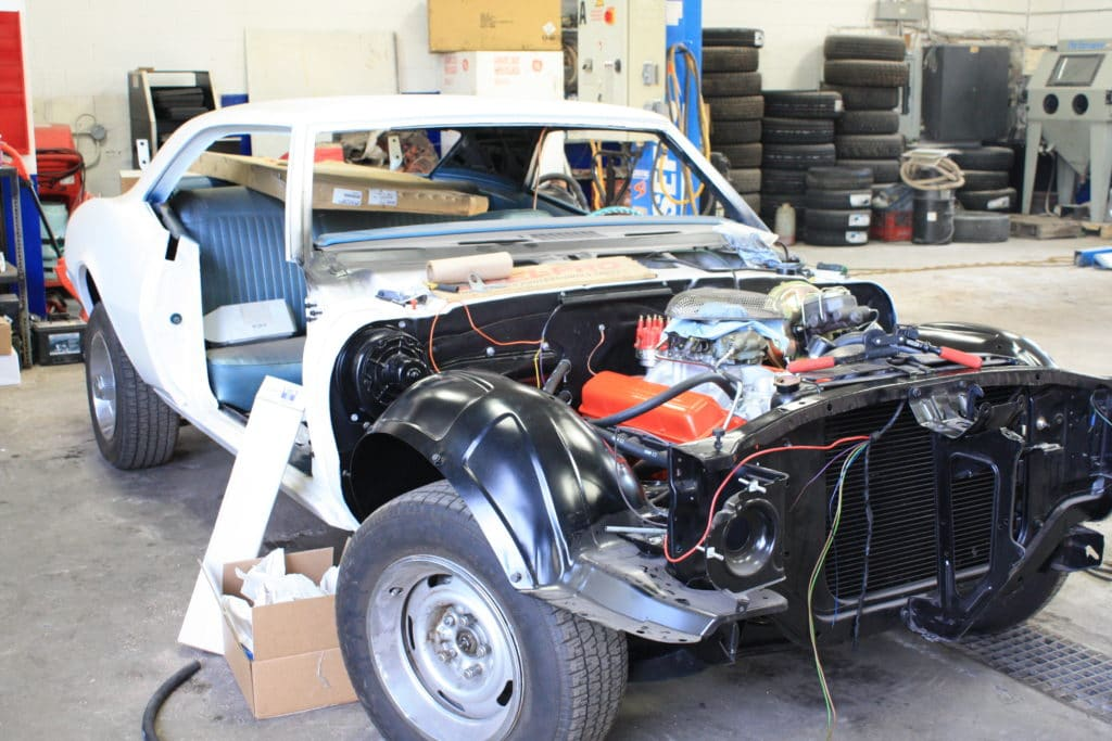 1967 Camaro build in progress